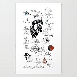 Halsey's Tattoos Kunstdrucke