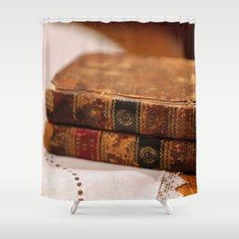 Antique Books Shower Curtain