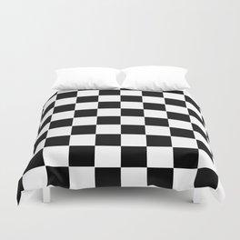 Checker Cross Squares Black & White Duvet Cover