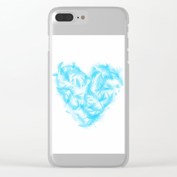 Feathers heart Clear iPhone Case
