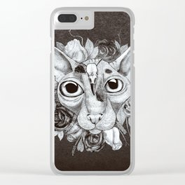 Kitty's Pretty Floral Mane Clear iPhone Case
