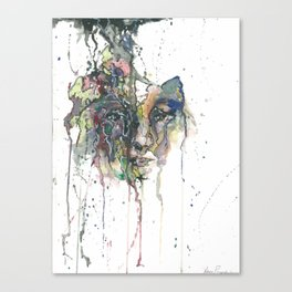 Unravelling With Every Word Canvas Print