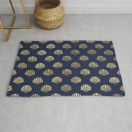 Elegant and Beautiful Seashell Pattern Rug