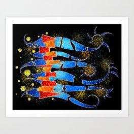 Vislepthonus V1 - abstract scorpion Art Print