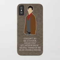 merlin iPhone & iPod Cases featuring Merlin by MacGuffin Designs