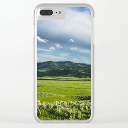 Lamar Valley, Yellowstone National Park Clear iPhone Case