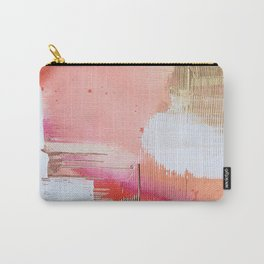 Moving Mountains: a minimal, abstract piece in reds and gold by Alyssa Hamilton Art Carry-All Pouch