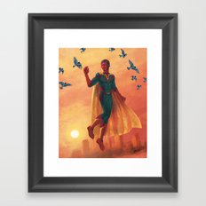 walking in the air Framed Art Print