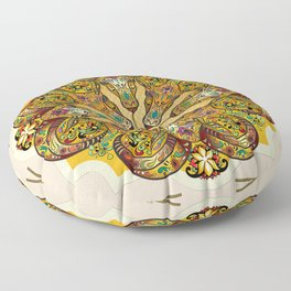 Mandala Sacred Rams - Bright Version Floor Pillow