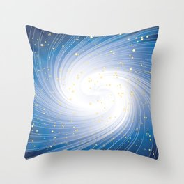 Stars, Light and Motion in space Throw Pillow
