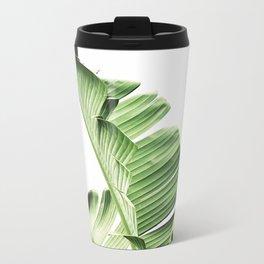 Banana leaves, Leaf, Plant, Modern, Wall Art, Tropical Metal Travel Mug