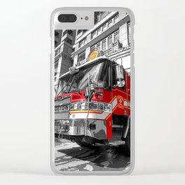 Fire Truck Clear iPhone Case