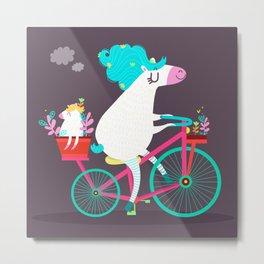 Horse ride Metal Print