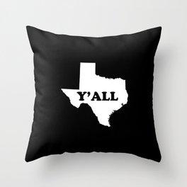 Texas Yall Throw Pillow