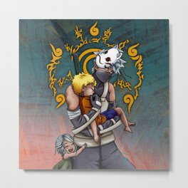 Taking Naruto Home Metal Print