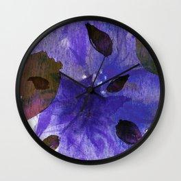 Watercolor Purple Mirage Wall Clock