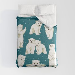 Cute Polar Bear Cubs Comforters