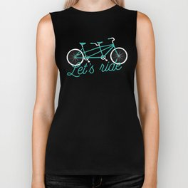 Let's Ride Tandem Bicycle Biker Tank