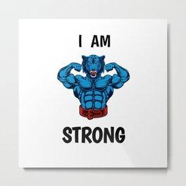 I AM STRONG Metal Print
