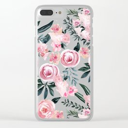 Night Rose Garden Clear iPhone Case