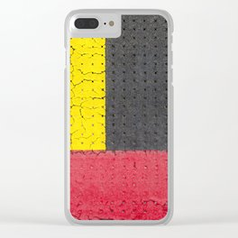 Yellow Grey Red Clear iPhone Case