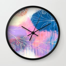 In The Garden I Dream Wall Clock