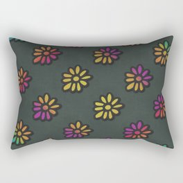 DP038-3 rainbow flowers Rectangular Pillow