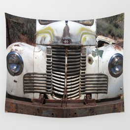 International Truck Grill, Truck Grill, Old Truck Wall Tapestry