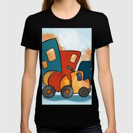 Cement Mixer, Construction Truck, Perfect for Child's Bedroom or Kid's Playroom T-shirt