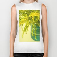 golden Biker Tanks featuring Golden by Olivia Joy St.Claire - Modern Nature / T