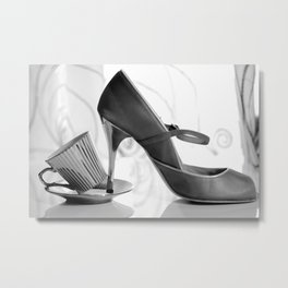 Glamorous Obsessions in high heels Metal Print