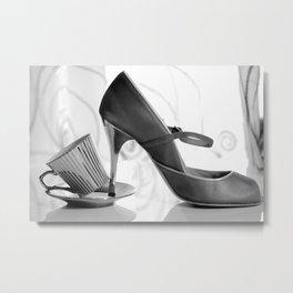 Glamorous Obsessions in high heels Metal Print