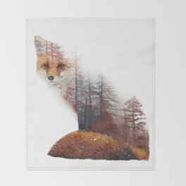 Misty Fox Throw Blanket