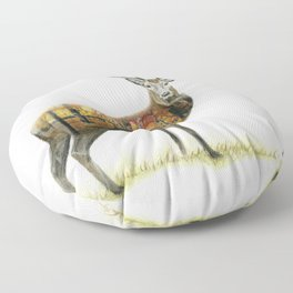 Autumnal Stag Floor Pillow
