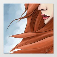 amy pond Canvas Prints featuring Amy Pond by R. Vijfhuizen