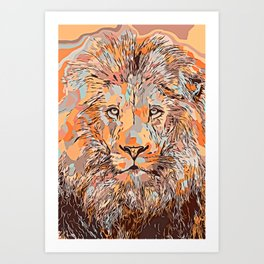 Lion Illustration Art Print