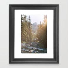 Sunset in the Backcountry Framed Art Print