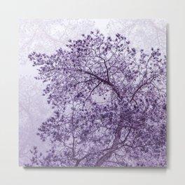 Beautiful Pine Tree Silhouette Purple Color #decor #society6 #buyart Metal Print