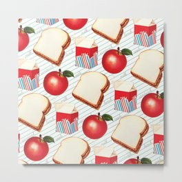 Lunch Pattern - Ruled Metal Print