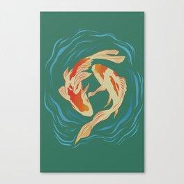 Twin Koi II Canvas Print