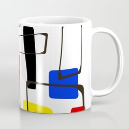 Eames Style Art Primary Colors Coffee Mug