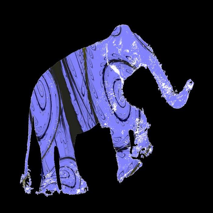 Elephant and fractal Duvet Cover