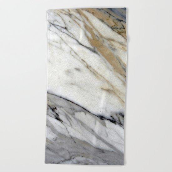 Calacatta Marble Beach Towel