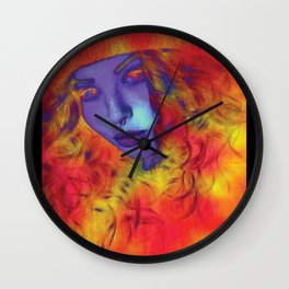 Trippy Witchy Babe Wall Clock