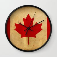 canada Wall Clocks featuring Canada by NicoWriter
