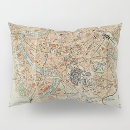 Vintage Map of Rome Italy (1911) Pillow Sham