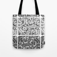 grid Tote Bags featuring Grid by Cloz000