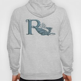 """Dragon Letter R, from """"Dracoserific"""", a font full of Dragons Hoody"""
