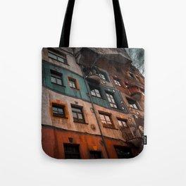 Hundertwasser museum Tote Bag