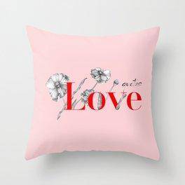 Love Qoutes Throw Pillow